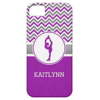 Purple Chevron Figure Skater iPhone 5/5s Case