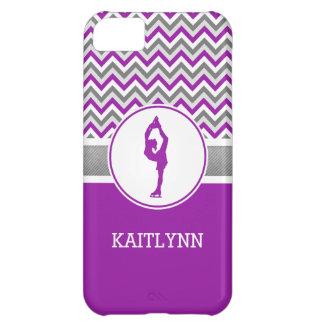 Purple Chevron Figure Skater iPhone 5c Case