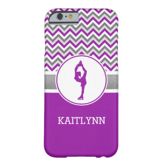 Purple Chevron Figure Skater iPhone 6 Case Barely There iPhone 6 Case