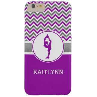 Purple Chevron Figure Skater iPhone 6 Case Barely There iPhone 6 Plus Case