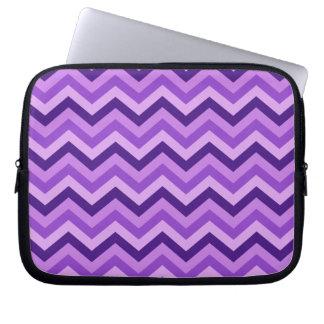 Purple Chevron Laptop Sleeve