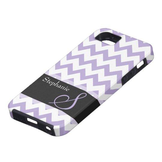 Purple Chevron Monogram iPhone 5/5S, Vibe Case