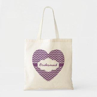Purple Chevron Monograms Heart Purple Ribbon A06H