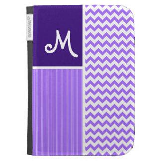 Purple Chevron Pattern Kindle Case