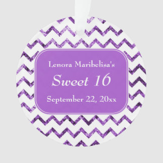 Purple Chevron Pattern Sweet 16