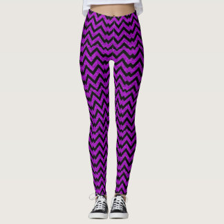 Purple Chevron Sparkles Pattern Custom Leggings