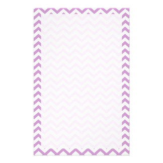 Purple Chevron Stationery