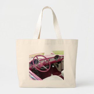 Purple Chevy Bel Air Large Tote Bag