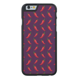 Purple chili peppers pattern carved® maple iPhone 6 case
