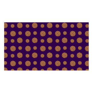 Purple chocolate chip cookies pattern business card templates