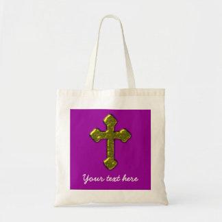 Purple Christian Customisable Tote Bag