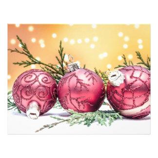 Purple Christmas baubles 21.5 Cm X 28 Cm Flyer