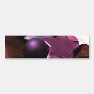 Purple Christmas Bumper Stickers