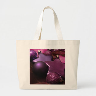 Purple Christmas Canvas Bag