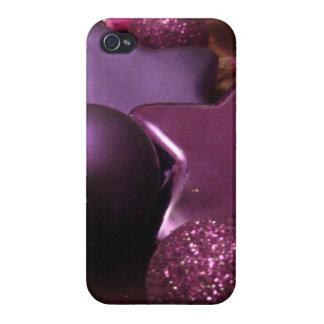 Purple Christmas iPhone 4 Case