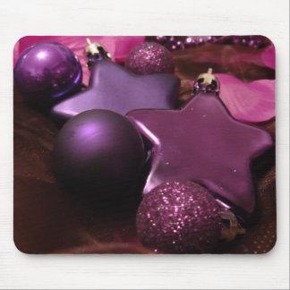 Purple Christmas Mouse Pads