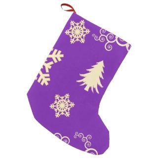 Purple Christmas Small Christmas Stocking