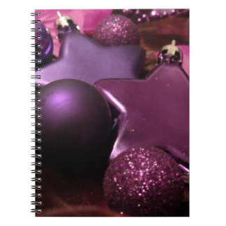 Purple Christmas Spiral Note Book