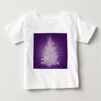Purple Christmas Tree Baby T-Shirt