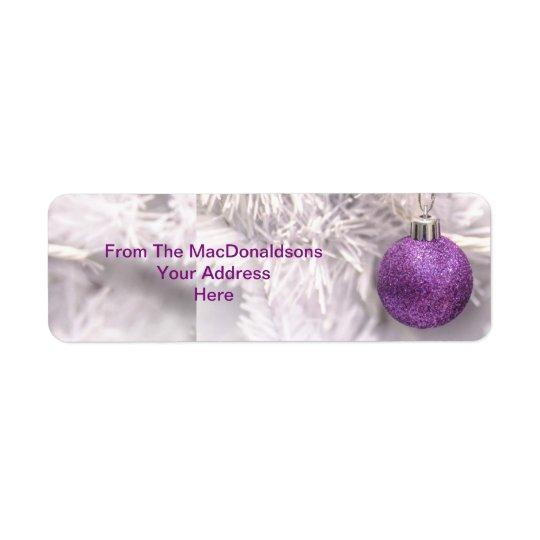 Purple Christmas tree bauble