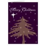 Purple Christmas Tree Holiday Card