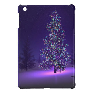 Purple Christmas tree iPad Mini Cover