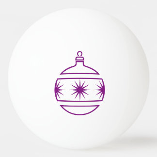 Purple Christmas Tree Ornament Outline Shapes Ping Pong Ball