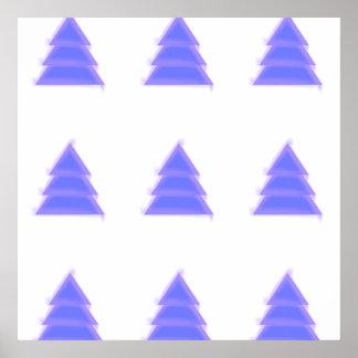 Purple Christmas Tree {} Poster