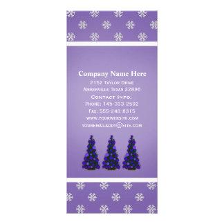 Purple Christmas Tree Rack Cards