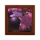Purple Christmas Trinket Box