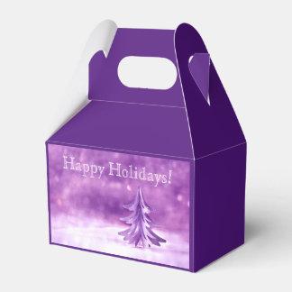 Purple Christmas Winter Wonderland Personalized Favour Box