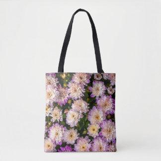 Purple Chrysanthemum All Over Pattern Totebag Tote Bag