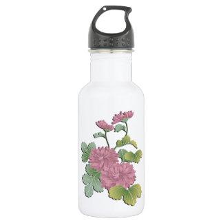 Purple chrysanthemum in bloom 532 ml water bottle