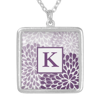 Purple Chrysanthemum Necklace