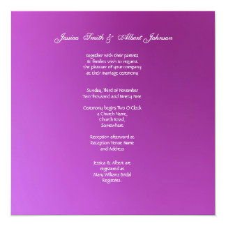 Purple Chrysanthemum Wedding Invitation