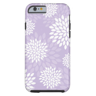 Purple Chrysanthemums Floral Pattern Tough iPhone 6 Case