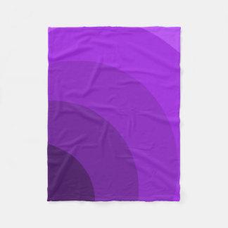 Purple Circles Fleece Blanket