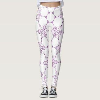 Purple Circles Leggings