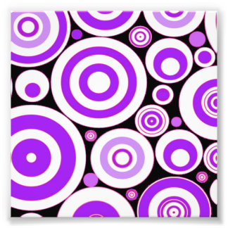 Purple Circles Photo Print