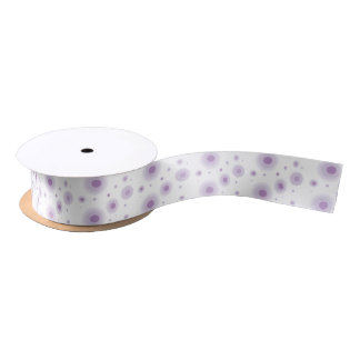 purple circles satin ribbon