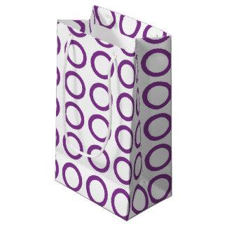 Purple Circles Small Gift Bag