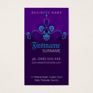 Purple Circly Waves Business Card