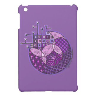 """Purple Circuit"" Tangle iPad Mini Cases"
