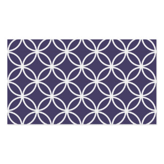 Purple Circular Pattern Pack Of Standard Business Cards