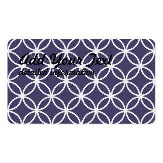 Purple Circular Pattern Business Card Template