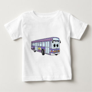 Purple City Bus Cartoon Baby T-Shirt