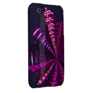 Purple City Kaleidoscope iPhone3  Case-Mate Cover iPhone 3 Covers