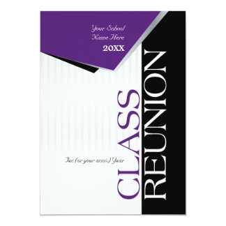Purple Class Reunion Invitation