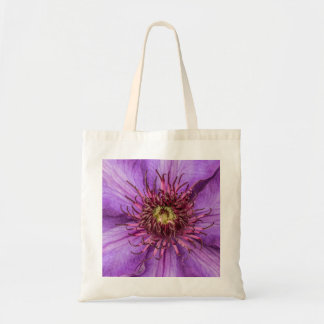 Purple Clematis Flower Budget Tote Bag