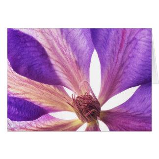 Purple Clematis Flower Card